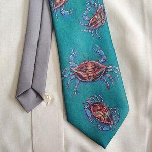 NWOT Ralph Marlin Original Blue Crab tie